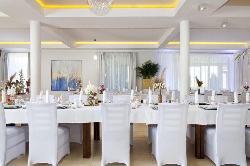 Restauracja Biancas stoły weselne