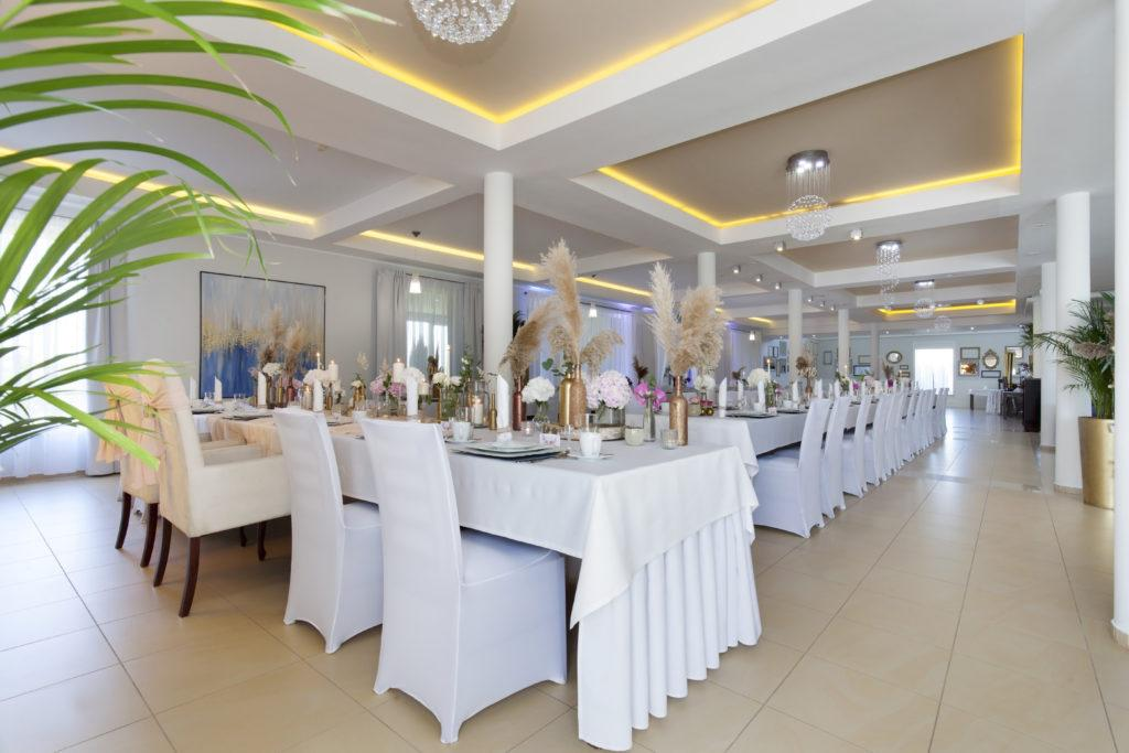 Restauracja Biancas przygotowana sala weselna